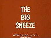 The Big Sneeze Cartoon Character Picture