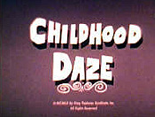 Childhood Daze Free Cartoon Picture