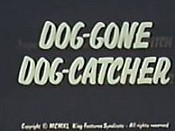 Dog-Gone Dog-Catcher Cartoon Character Picture
