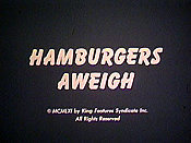 Hamburgers Aweigh Cartoon Picture