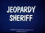 Jeopardy Sheriff Cartoon Character Picture