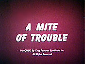 A Mite Of Trouble Cartoon Picture