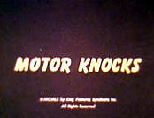 Motor Knocks Cartoon Picture