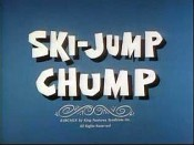 Ski-Jump Chump Cartoon Picture