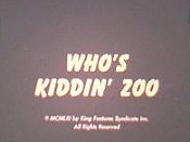 Who's Kiddin' Zoo Free Cartoon Picture
