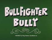 Bullfighter Bully Cartoon Picture
