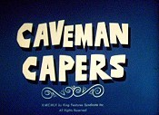 Caveman Capers Free Cartoon Picture