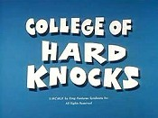 College Of Hard Knocks Cartoon Picture
