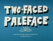 Two-Faced Paleface Free Cartoon Picture