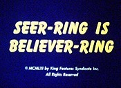 Seer-Ring Is Believer-Ring Cartoon Picture