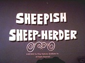 Sheepish Sheep-Herder Free Cartoon Picture