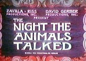 The Night The Animals Talked Cartoon Picture