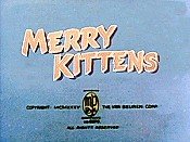 Merry Kittens Picture Of Cartoon
