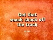 Get That Snack Shack Off The Track Cartoon Picture