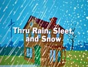 Thru Rain, Sleet, And Snow Cartoon Picture