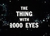 The Thing With 1000 Eyes Cartoon Character Picture