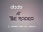 DoDo At The Rodeo Cartoon Character Picture