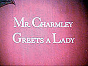 Mr. Charmley Greets A Lady Cartoon Picture
