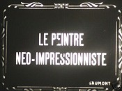 Le Peintre N�o-Impressionniste Cartoon Picture