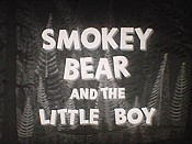 Smokey Bear And The Little Boy Cartoon Picture