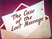 The Case Of The Lost Message Pictures In Cartoon
