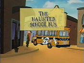 The Haunted School Bus Cartoon Character Picture