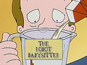 The Robot Babysitter Picture To Cartoon