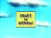 Freaky The Snowman Cartoon Picture