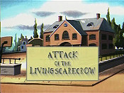 Attack Of The Living Scarecrow Free Cartoon Pictures