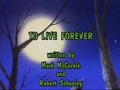 To Live Forever Cartoon Picture