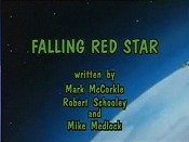 Falling Red Star Cartoon Picture