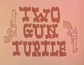 Two Gun Turtle Cartoon Picture