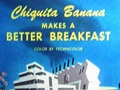 Chiquita Banana Makes A Better Breakfast Cartoon Picture