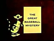 The Great Baseball Mystery Free Cartoon Picture