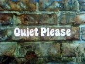 Quiet Please Cartoon Picture