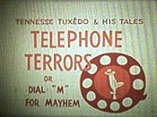 Telephone Terrors Picture Into Cartoon