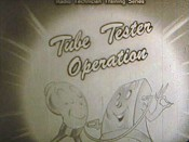 Tube Tester Operation Cartoon Picture