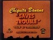 Chiquita Banana Saves Trouble Cartoon Picture