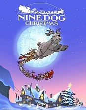 Nine Dog Christmas Picture Into Cartoon