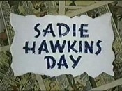 Sadie Hawkins Day Free Cartoon Picture