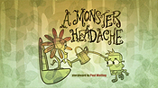 A Monster Headache Cartoon Character Picture