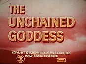 The Unchained Goddess Cartoon Picture