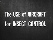 The Use of Aircraft for Insect Control Free Cartoon Picture