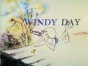 Windy Day Cartoon Character Picture