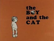 The Boy And The Cat Free Cartoon Picture