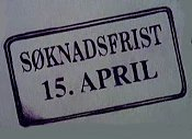 Soknadsfrist 15. April (Deadline April 15th) Cartoon Picture