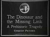 The Dinosaur And The Missing Link Cartoon Picture
