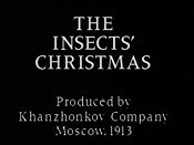 Rozhdyestvo Obitatelei Lyesa (The Insects' Christmas) Pictures Cartoons
