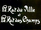 Le Rat De Ville Et Le Rat Des Champs (The Town Rat And The Country Rat) Cartoon Picture