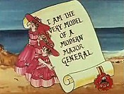 I Am The Very Model Of A Modern Major General Free Cartoon Picture
